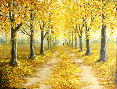 Golden Autumn Print by Petrica Sincu