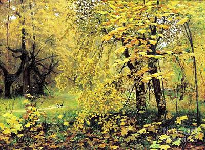 Golden  Autumn Art Print by Pg Reproductions