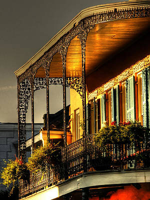 Orange Photograph - Golden Balcony by Greg and Chrystal Mimbs