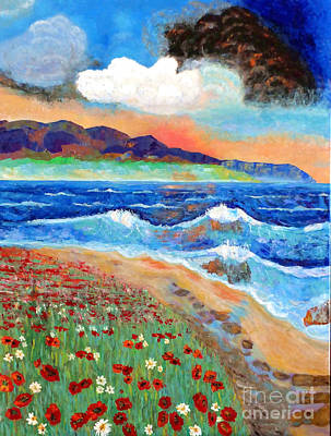 Painting - Golden Beach 1 by Vicky Tarcau