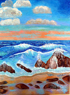 Painting - Golden Beach 2 by Vicky Tarcau