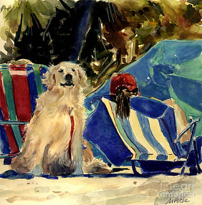 Golden Retriever Painting - Golden Beach by Molly Poole