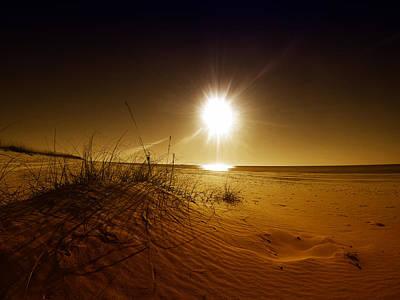 Digital Art - Golden Beach Patterns by Michael Thomas