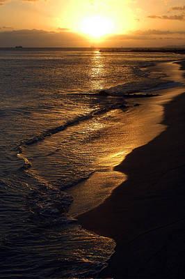 Golden Beach Art Print