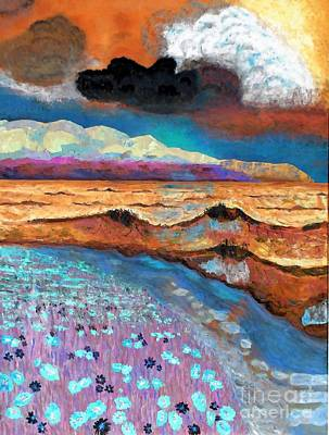Golden Beach1 Art Print by Vicky Tarcau