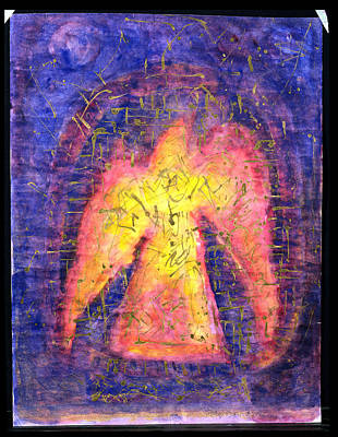 Golden Bird Rising, 1992 Mixed Media On Paper Art Print