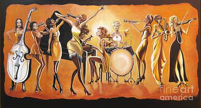 Golden Blues #4 Original by Toni  Thorne