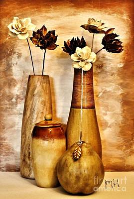 Mango Digital Art - Golden Brown Toned Still by Marsha Heiken