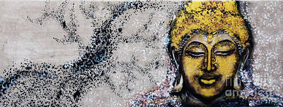 Golden Buddha - Buddha In Youth Art Print by Kusum Vij