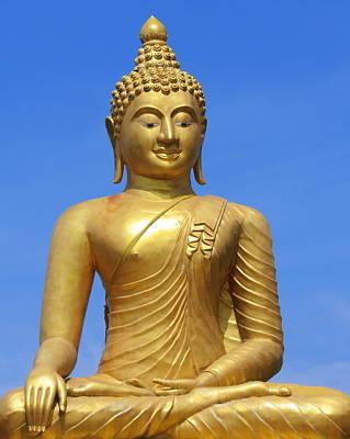 Photograph - Golden Buddha by Ramona Johnston