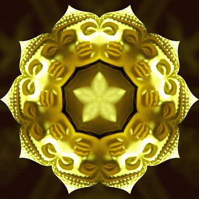 Photograph - Golden Buddha Star by Derek Gedney