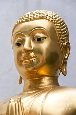 Golden Buddha Statue Art Print by Antony McAulay