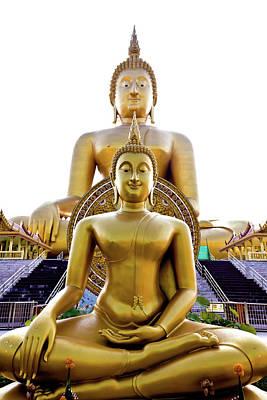 Golden Buddha Statue  Art Print