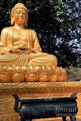 Photograph - Golden Buddha by Sue Harper