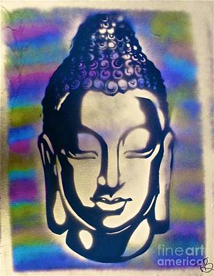 Conscious Painting - Golden Buddha by Tony B Conscious