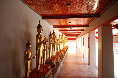 Wat Photograph - Golden Buddha - Wat Pho - Bangkok Thailand - 01132 by DC Photographer