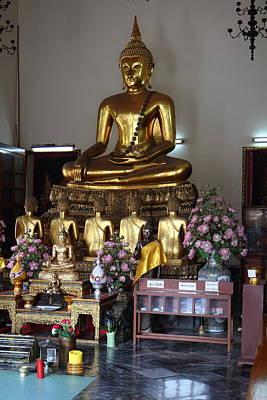 Wat Photograph - Golden Buddha - Wat Pho - Bangkok Thailand - 01134 by DC Photographer