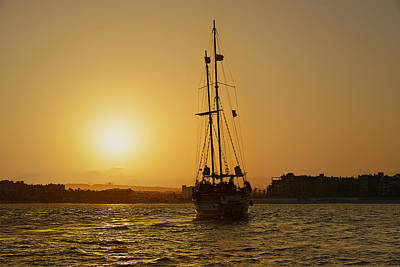 Sunset Sailing Photograph - Golden Cabo Sunset by Christine Till