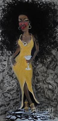 Golden Cadillac  2012 Art Print