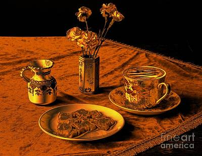 Golden Cappuccino Art Print