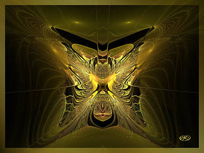 Digital Art - Golden Chamber by Kiki Art