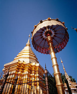 Golden Chedi, Wat Phrathat Doi Suthep Art Print by Panoramic Images