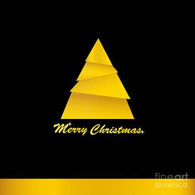 Digital Art - Golden Christmas Tree by Martin Capek