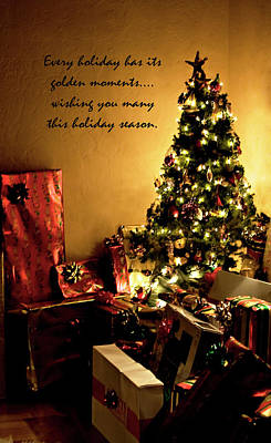 Photograph - Golden Christmas Wish by Lorraine Devon Wilke