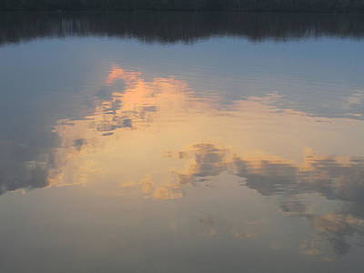 Golden Clouds On Water Art Print by Jaime Neo