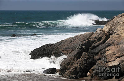 Photograph - Golden Coast Waves by John Rizzuto