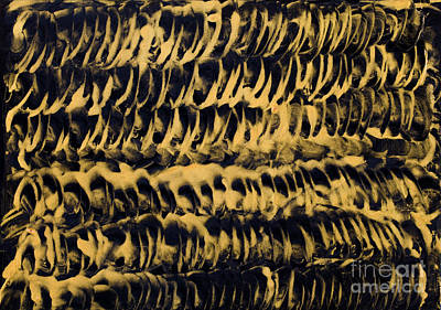 Encaustic Painting - Golden Coils Painting In Wax by Simon Bratt Photography LRPS