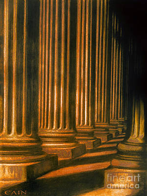 Painting - Golden Columns Art Print by William Cain