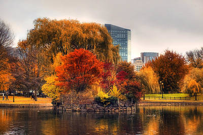 Park Scene Photograph - Golden Common by Joann Vitali