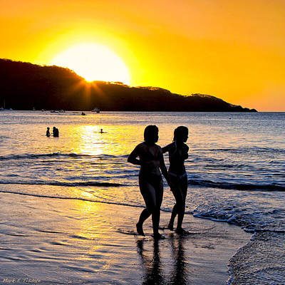 Photograph - Golden Costa Rican Sunset - Tropical Beach by Mark E Tisdale