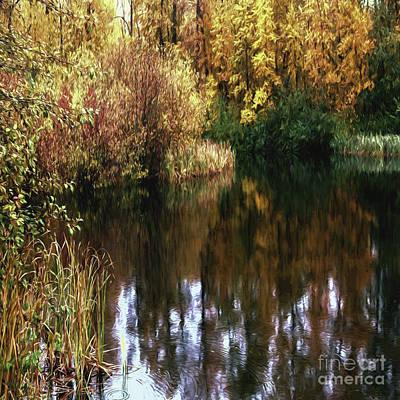 Jean_okeeffe Photograph - Golden Creek by Jean OKeeffe Macro Abundance Art
