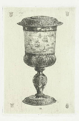 Golden Cup With Lid, Donated To Michiel De Ruyter Art Print