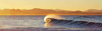 Photograph - Golden Curl || Byron Bay by Edwin Emmerick Photography