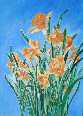 Painting - Golden Daffodils by Taiche Acrylic Art