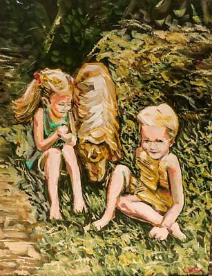 Painting - Golden Days by Joel Tesch
