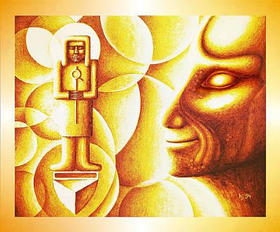 Golden Days Of  Atlantis Art Print by Hartmut Jager