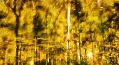 Golden Days Of Autumn Art Print by Dan Sproul