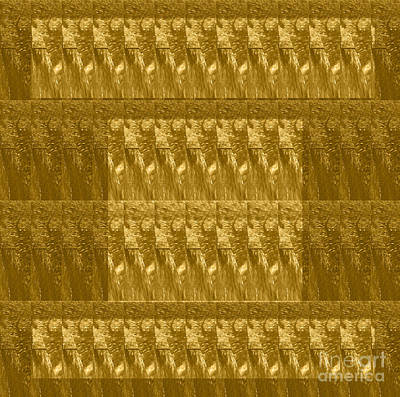 Painting - Golden Decorative Patterns Designed By Navinjoshi               by Navin Joshi