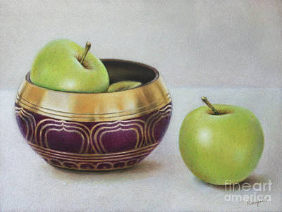Drawing - Golden Delicious by Ranjini Venkatachari