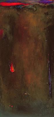 Abstract Landscape Photograph - Golden Desert Oil On Canvas by Jane Deakin