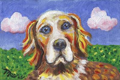 Golden Dog Art Print by Linda Mears