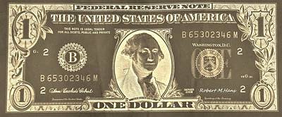 Photograph - Golden Dollar One by Rob Hans
