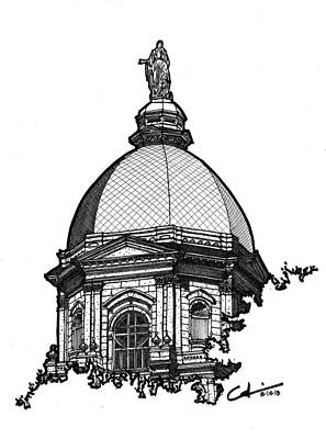 Drawing - Golden Dome by Calvin Durham