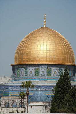Mariah Photograph - Golden Dome Of The Rock Mosque Atop by Dave Bartruff