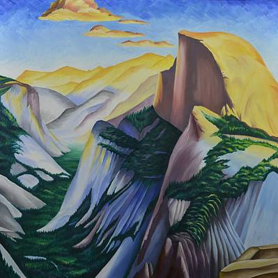Half Dome Painting - Golden Dome by Ron Abbott