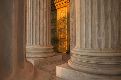 Golden Doors And Columns Of The United Art Print by Tips Images
